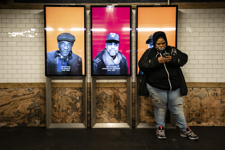 Virus Outbreak Transit Worker Memorial