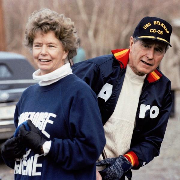George H W Bush  and    Nancy Ellis      family       1990