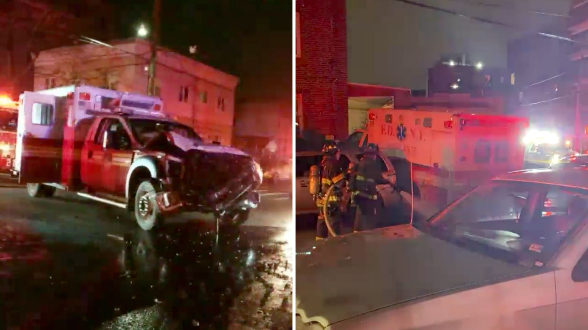 Crash in involving ambulances in Brooklyn