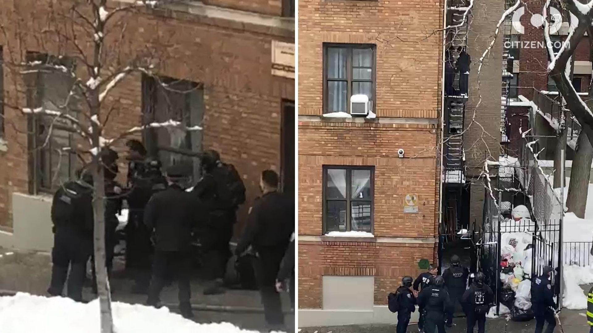 bronx barricaded suspect