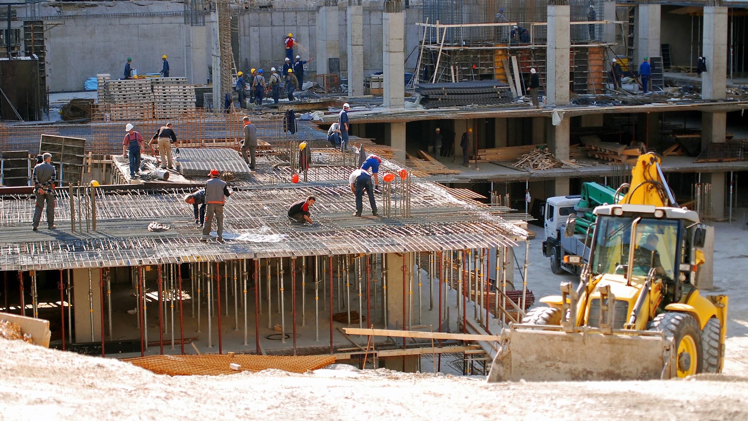 construction site and bulldozzer