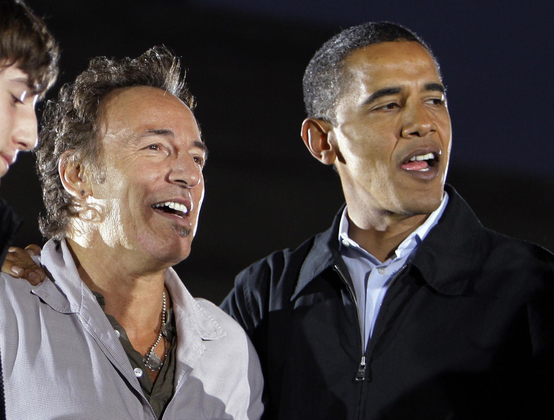 Bruce Springsteen, Barack Obama, Sam Obama