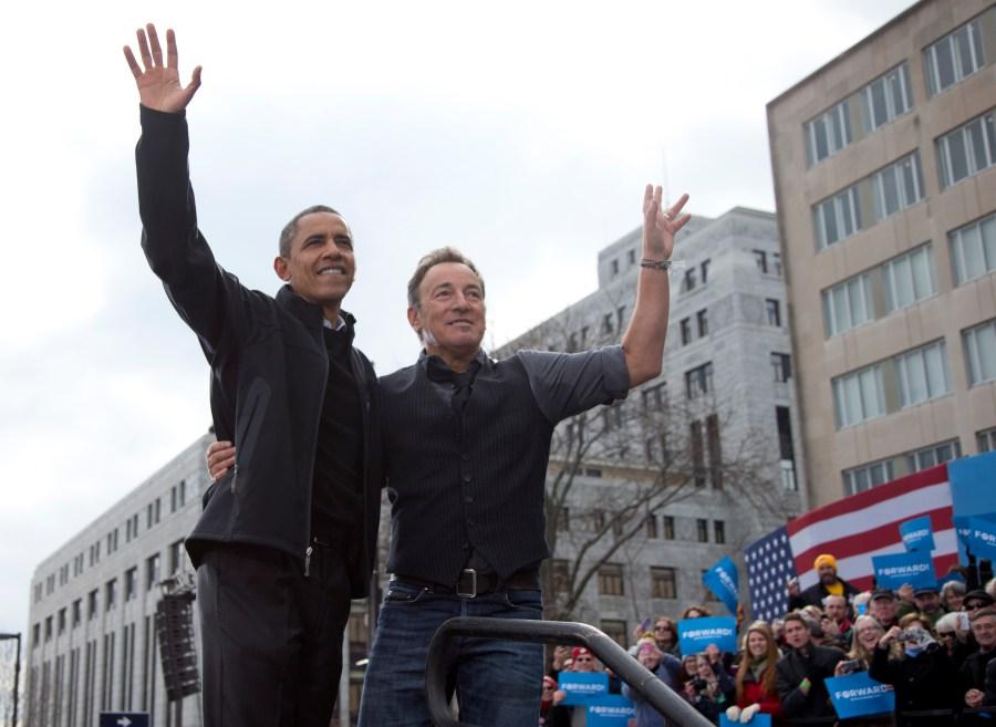 Barack Obama, Bruce Springsteen