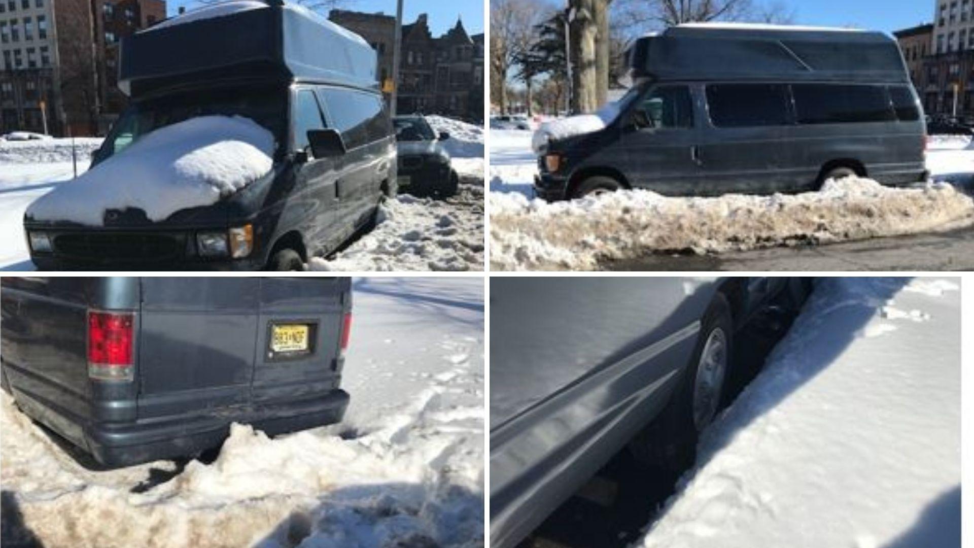 Van trapped in Newark