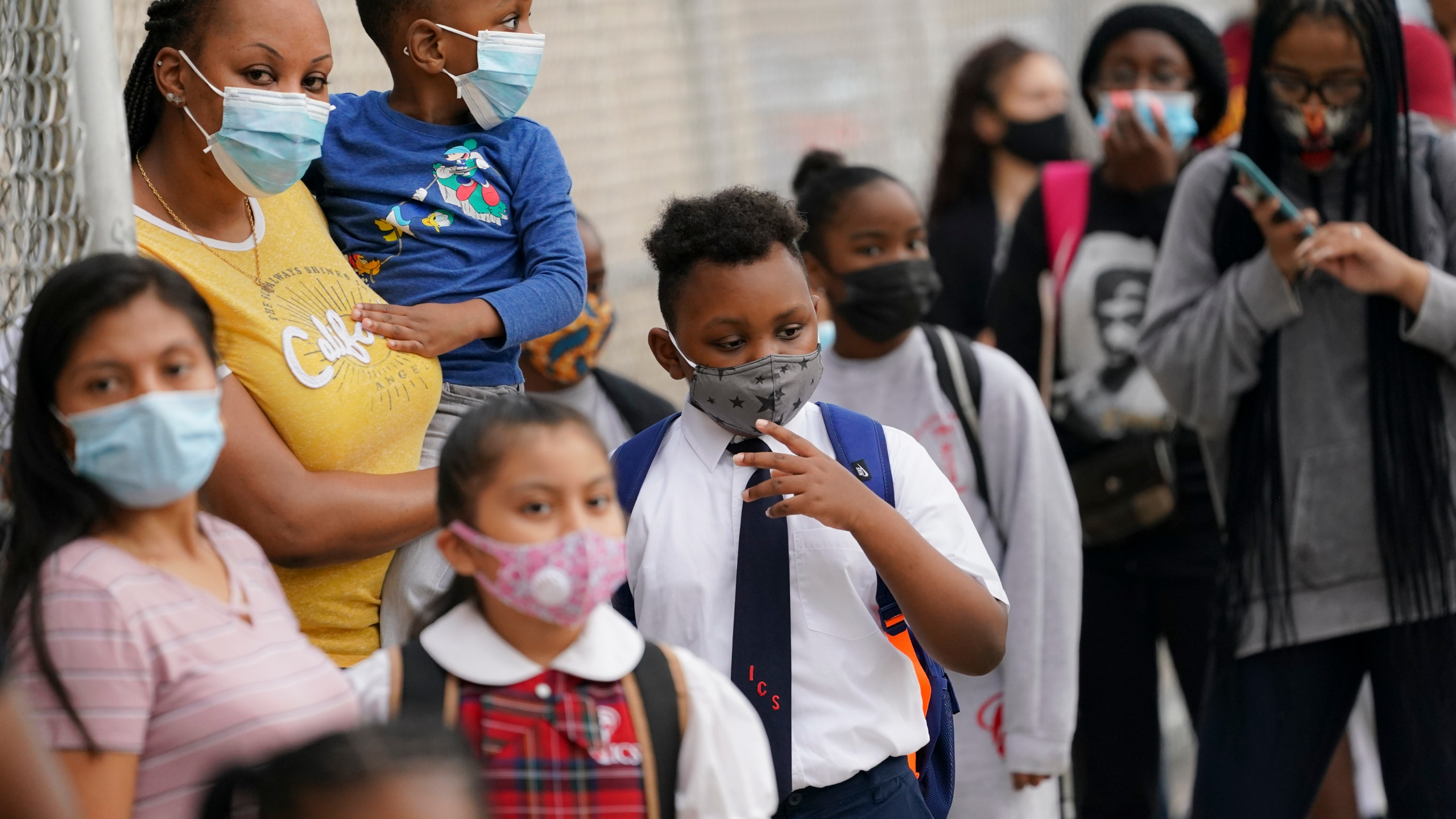 nyc students wearing masks
