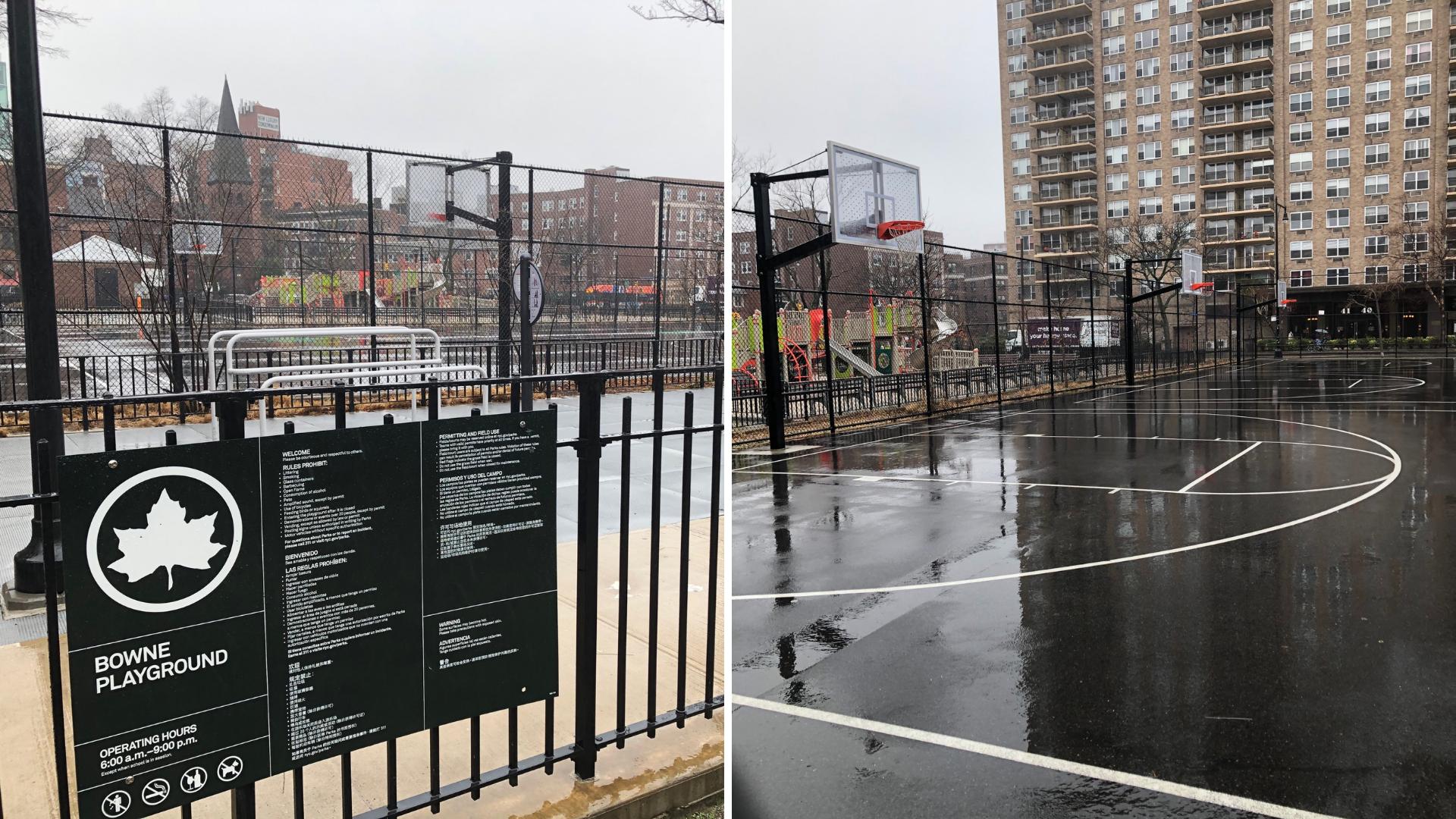 Bowne Playground basketball court