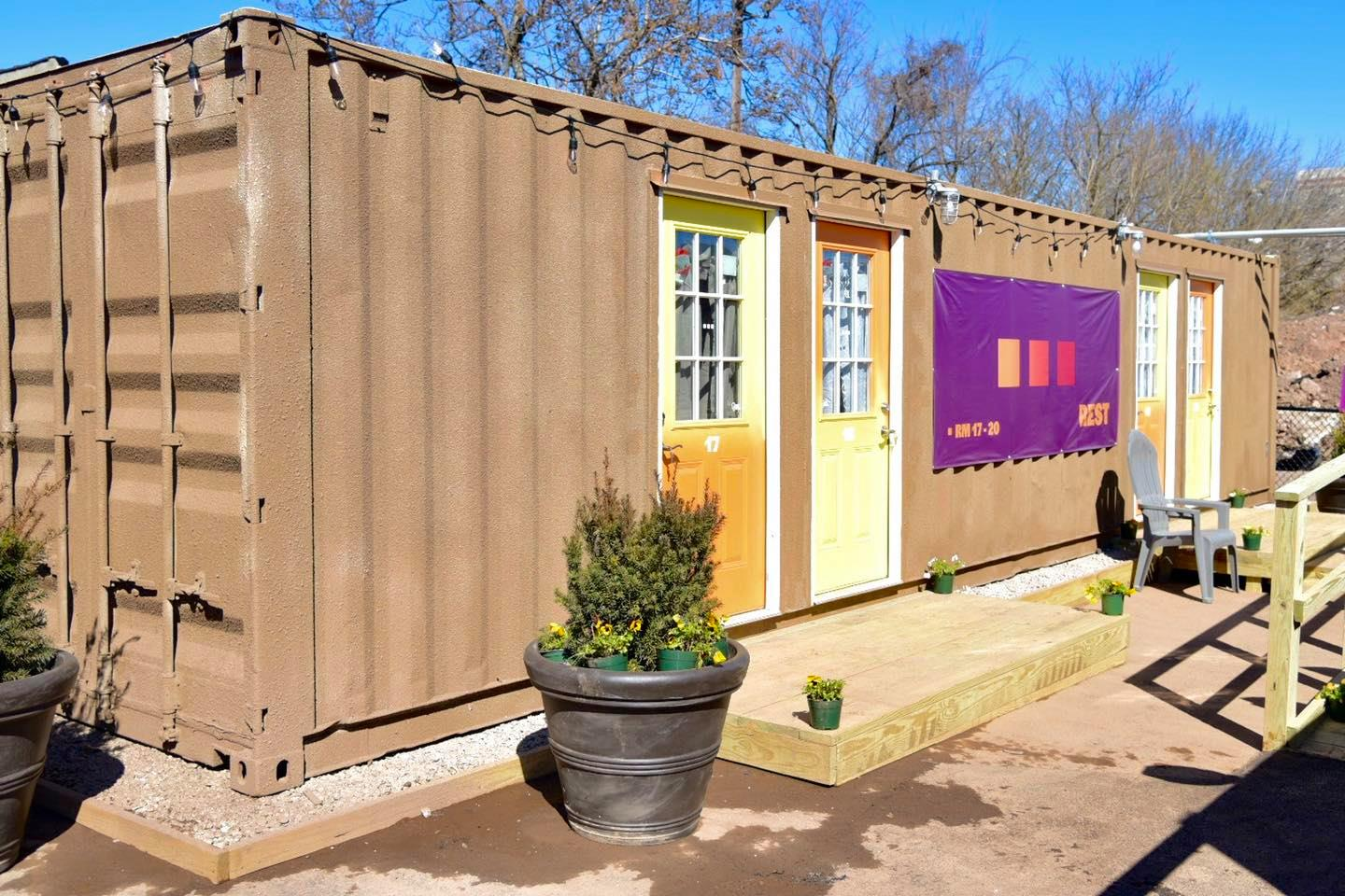Newark converts containers into housing 'village' for the homeless