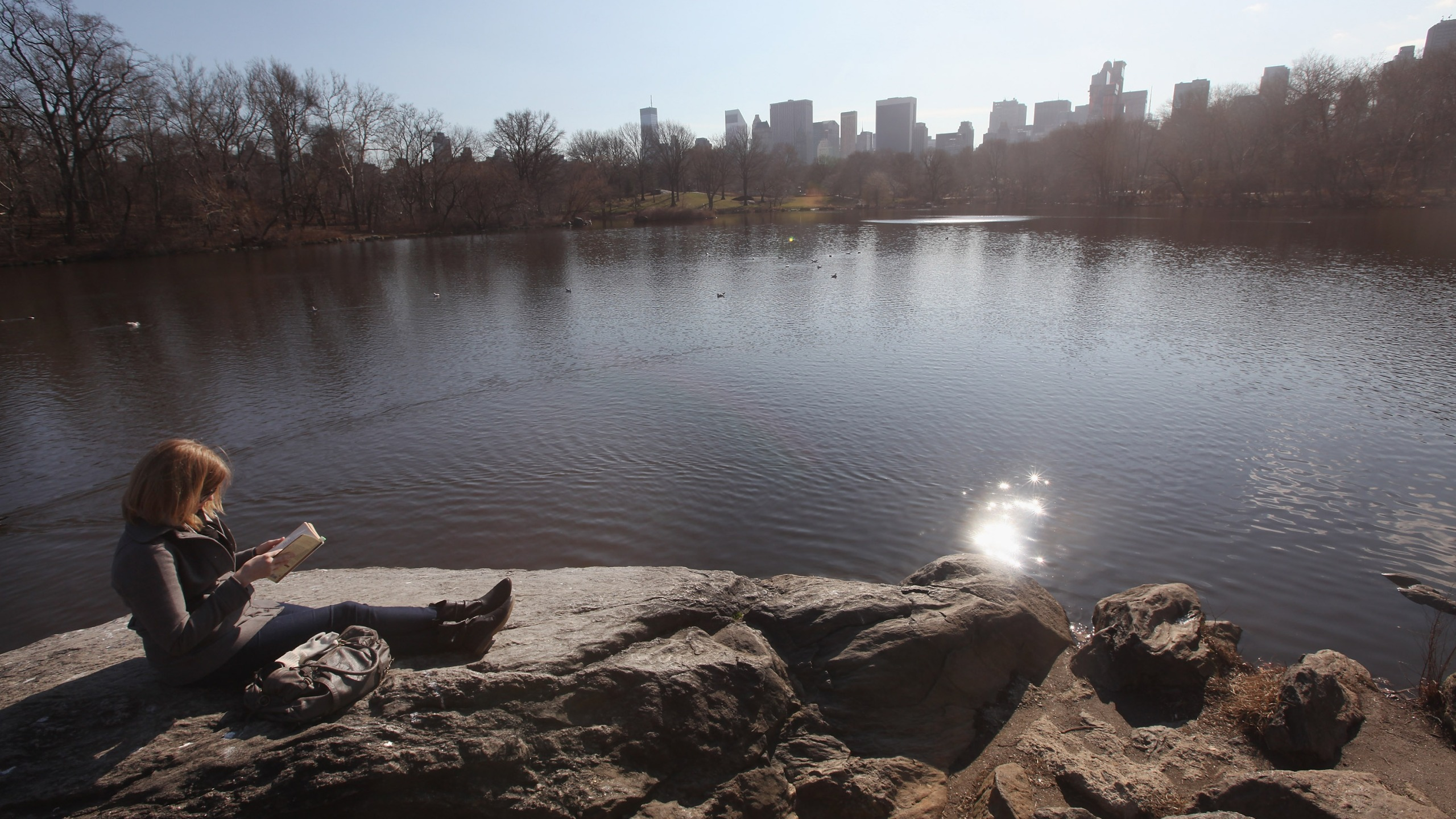 Sunny, mild weather in New York CIty