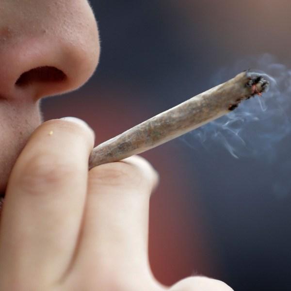 Man smokes marijuana