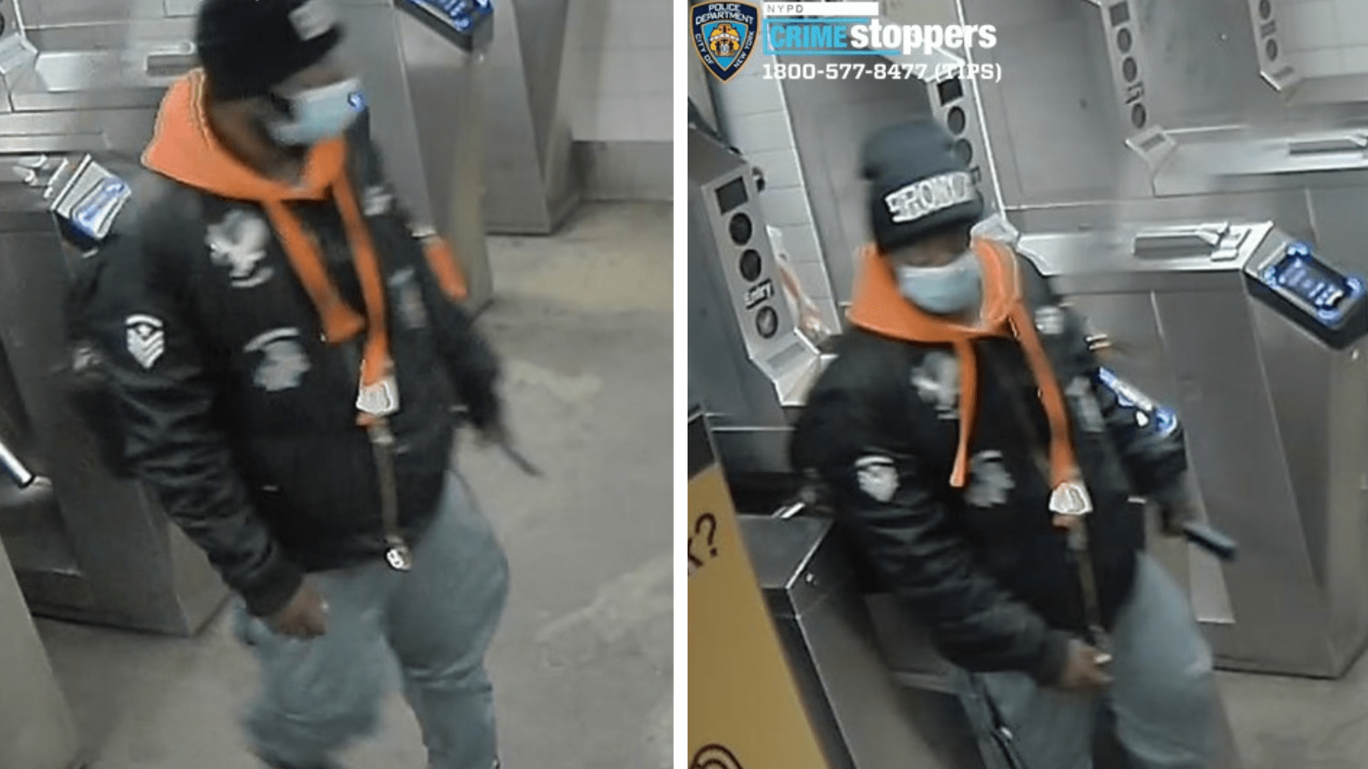 A man sought in connection with a Bronx subway attack is shown