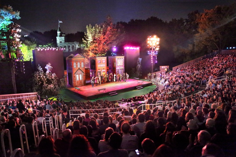 Theater performance at the Delacorte