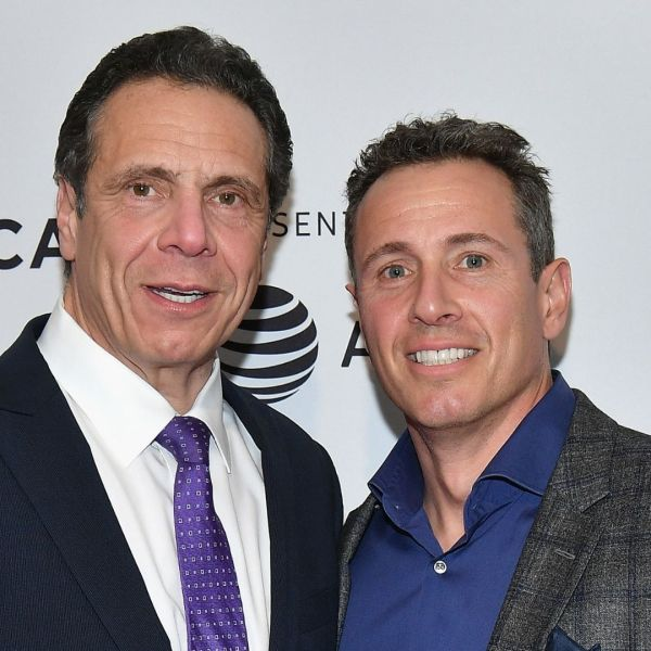 """Governor of New York Andrew Cuomo and Chris Cuomo attend a screening of """"RX: Early Detection A Cancer Journey With Sandra Lee"""" during the 2018 Tribeca Film Festiva at SVA Theatre on April 26, 2018 in New York City. (Dia Dipasupil/Getty Images)"""