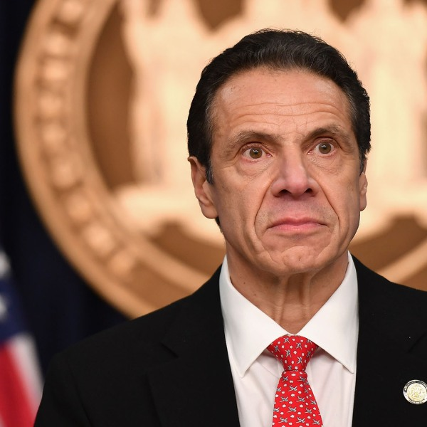 New York Gov. Andrew Cuomo discusses the first case of coronavirus in New York on March 2, 2020 in New York City.