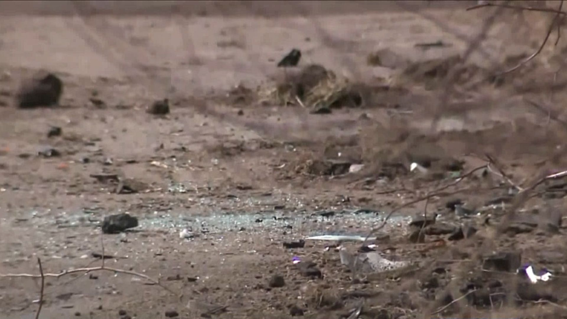 Scene of a February 2019 deadly crash that left a couple and teenage boy dead after a police chase on Long Island. (PIX11 News)