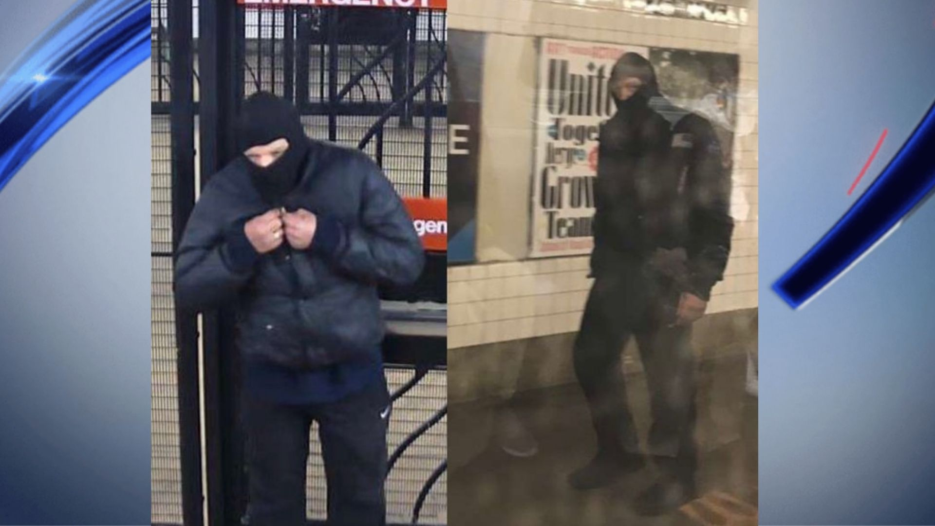 Surveillance images of a man accused of urinating on a woman aboard a subway on the F line in Queens on Saturday, March 20, 2021, according to police. (NYPD)
