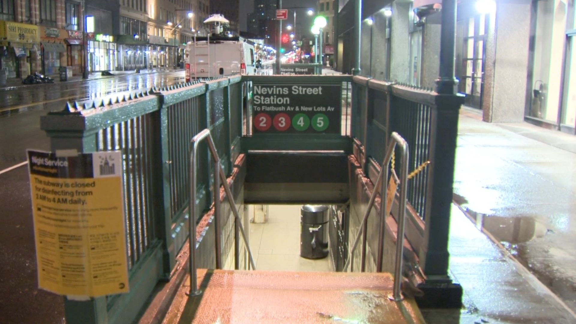 The Nevins Street subway station in Downtown Brooklyn on March 19, 2021. (PIX11 News)
