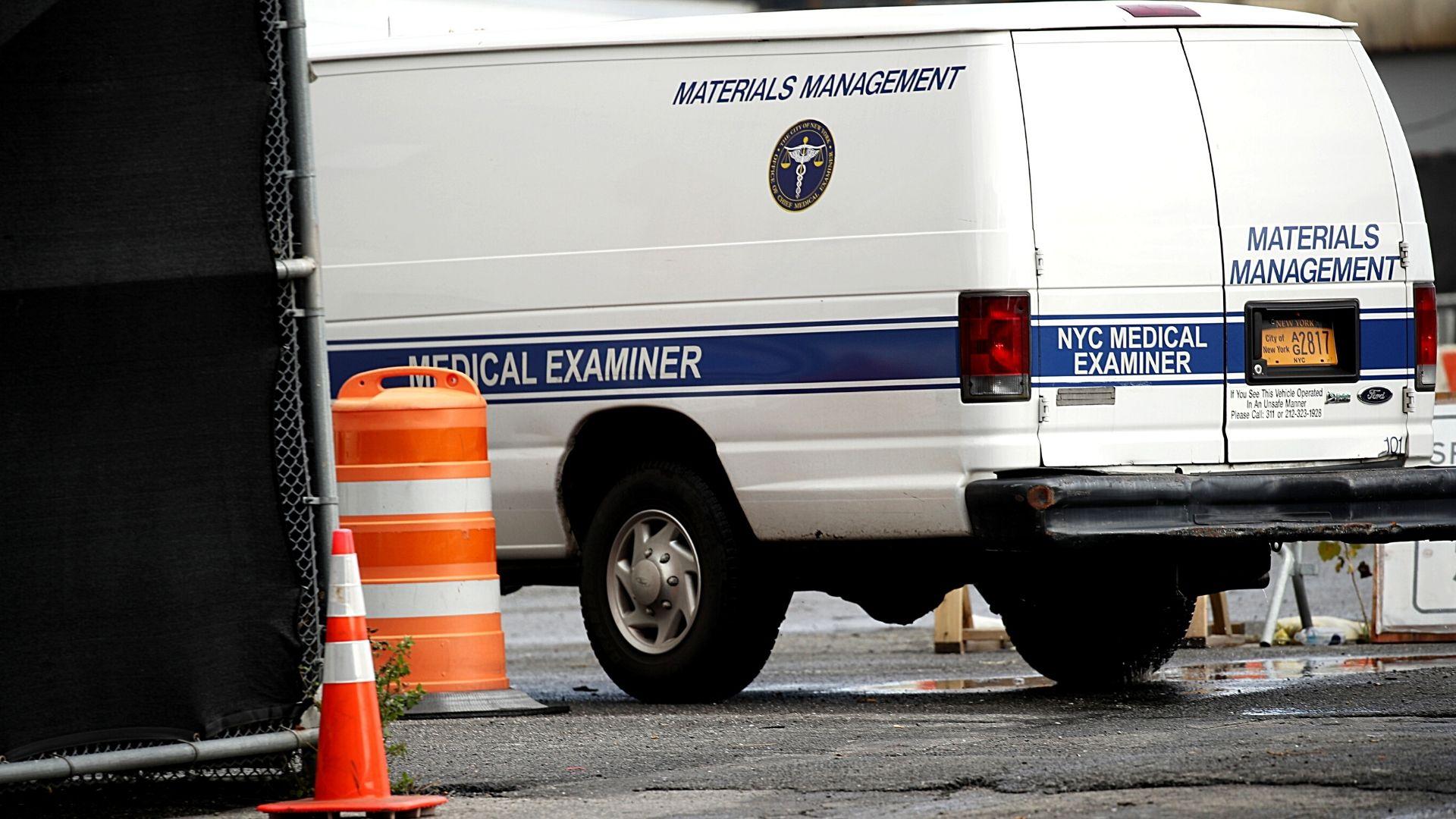 File photo of a New York City Medical Examiner's van in Brooklyn. (Spencer Platt/Getty Images)