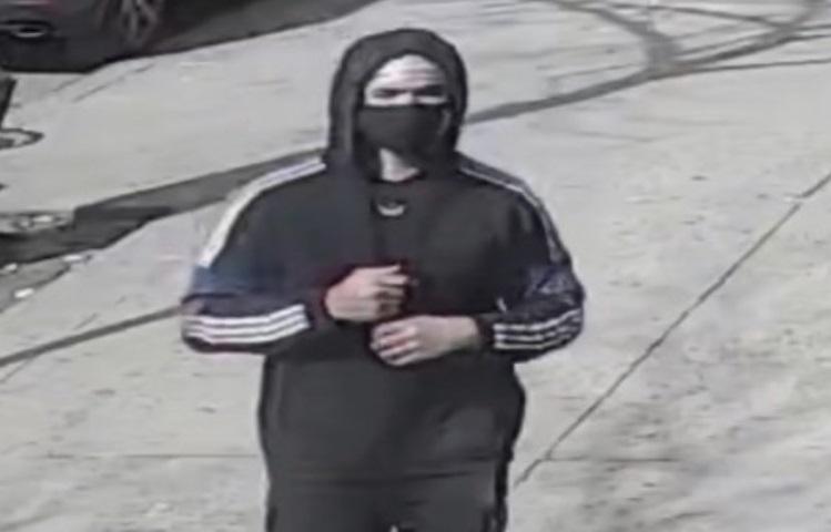 A slashing suspect dressed in all black