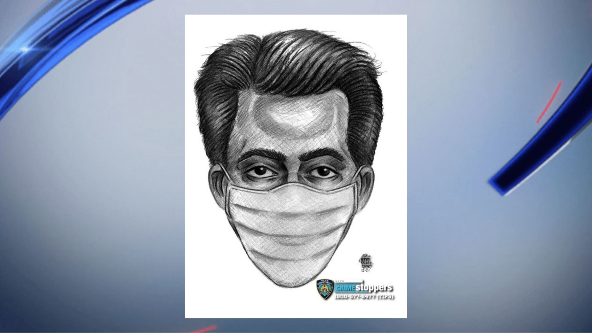 Police sketch of a man accused of groping a woman by a park in Staten Island on March 26, 2021, according to police. (NYPD)