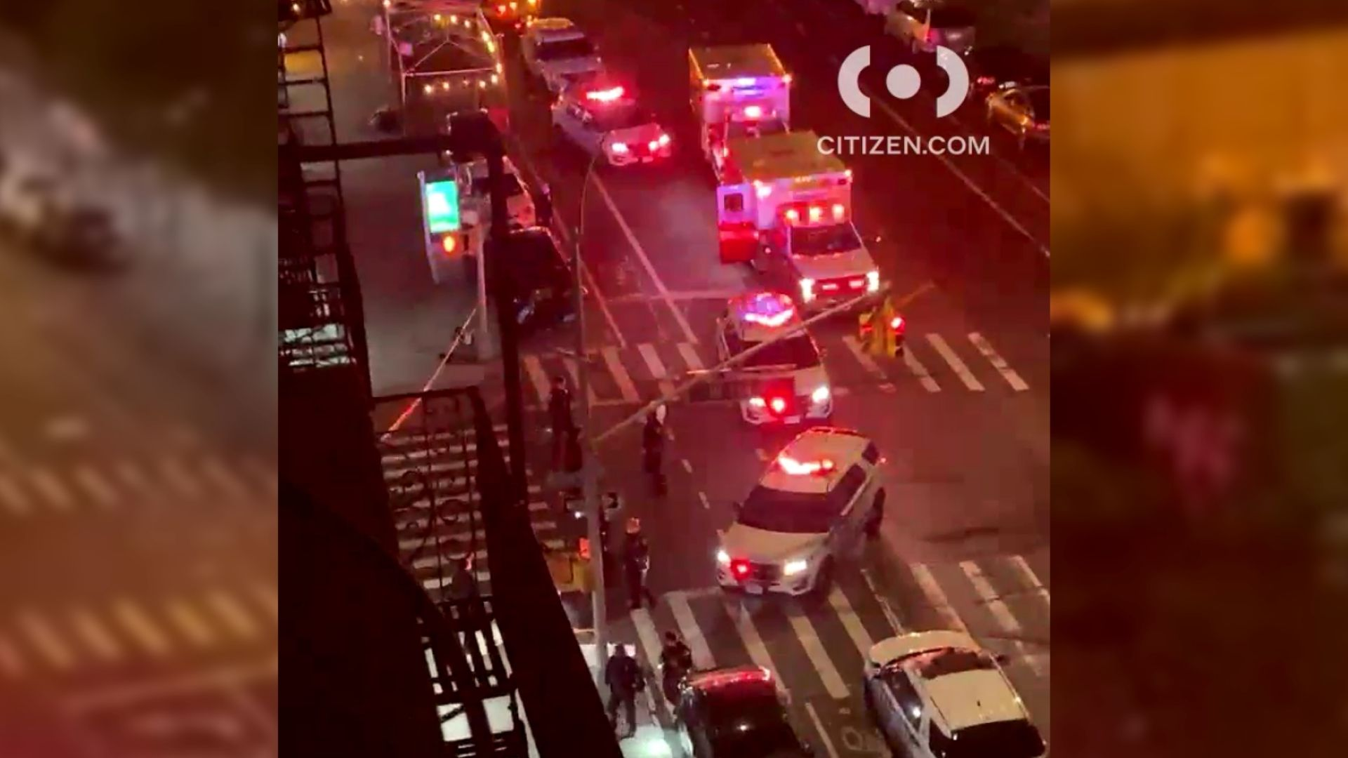 Police on the scene after a 17-year-old boy was shot during a dispute in Harlem