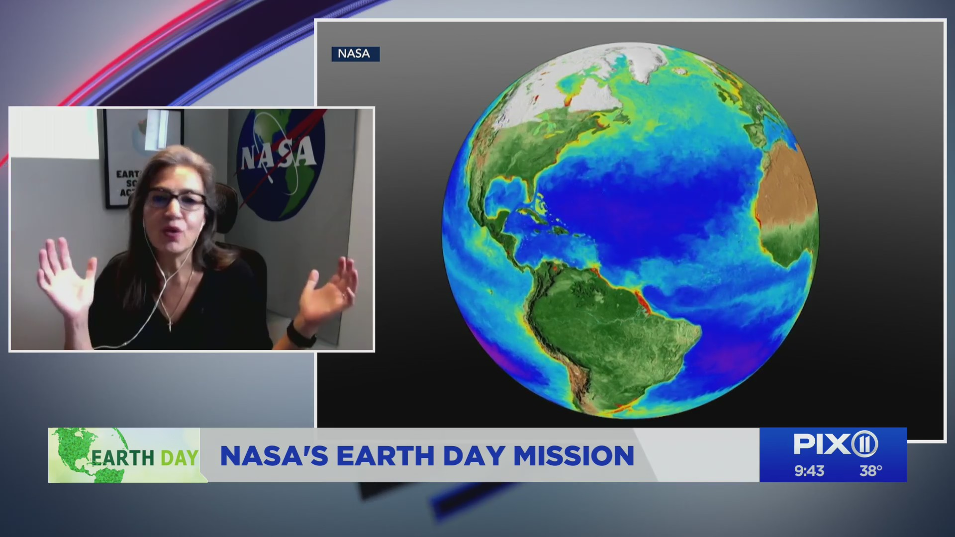 Sandra Cauffman, NASA Deputy Director of the Earth Science Division, spoke to PIX11 News as they celebrate Earth Day.