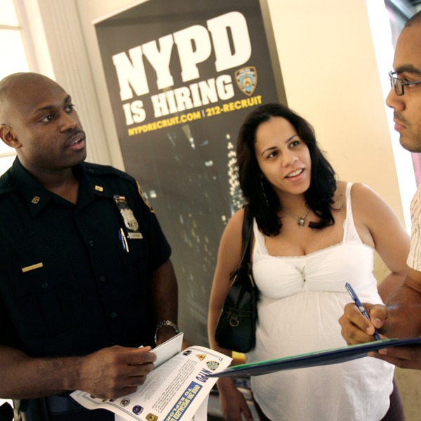 NYPD officer recruiting