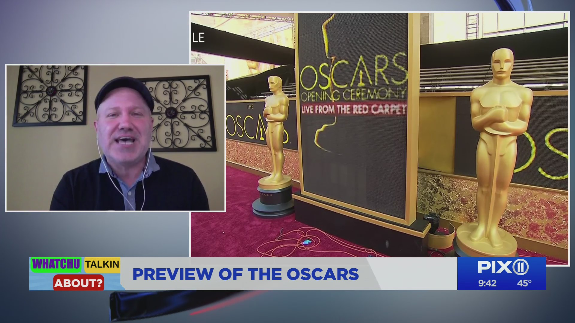Talking Oscar predictions on the PIX11 Morning News