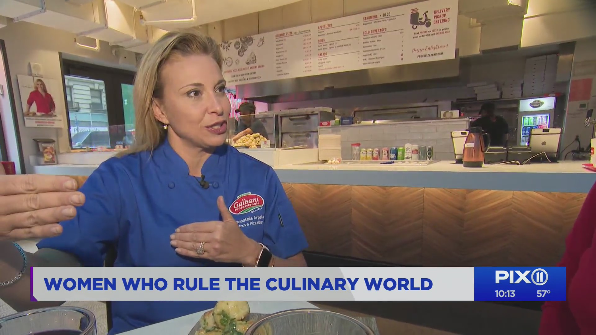 Restauranteur Donatella Arpaia tells her story on the PIX11 Morning News. (PIX11 News)