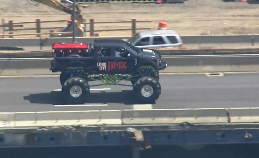 DMX coffin carried on monster truck to Brooklyn memorial