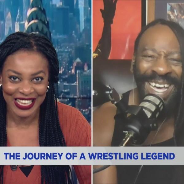 Wrestling legend Booker T on the PIX11 Morning News on April 5, 2021. (PIX11 News)