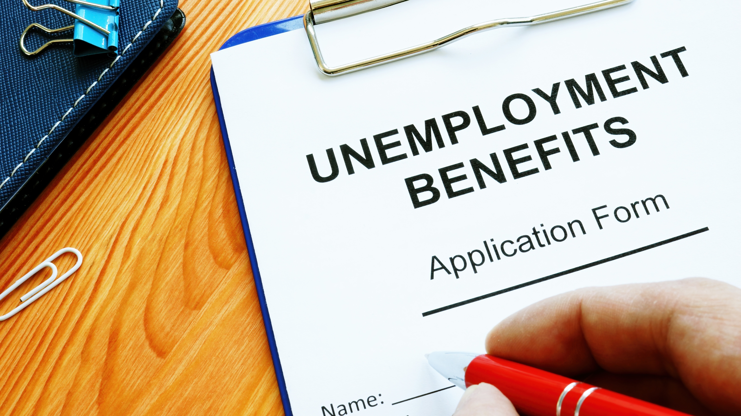 Unemployment benefits application form