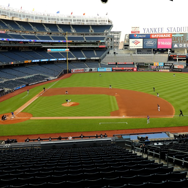 New York Yankees play the New York Mets on July 19, 2020 at Yankee Stadium in the Bronx (Elsa/Getty Images)