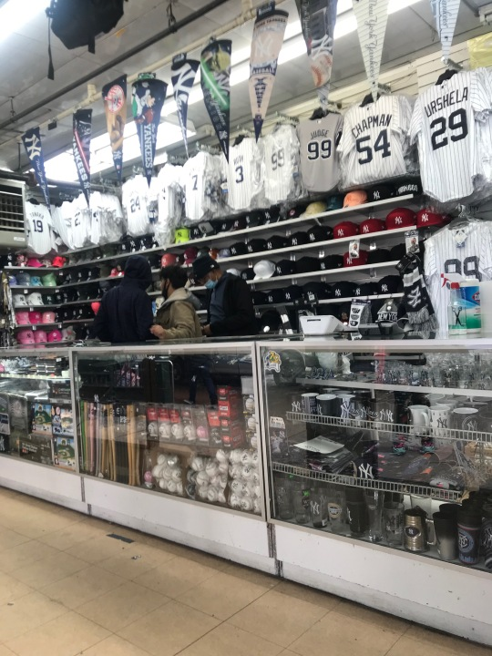 Yankees gear near the stadium