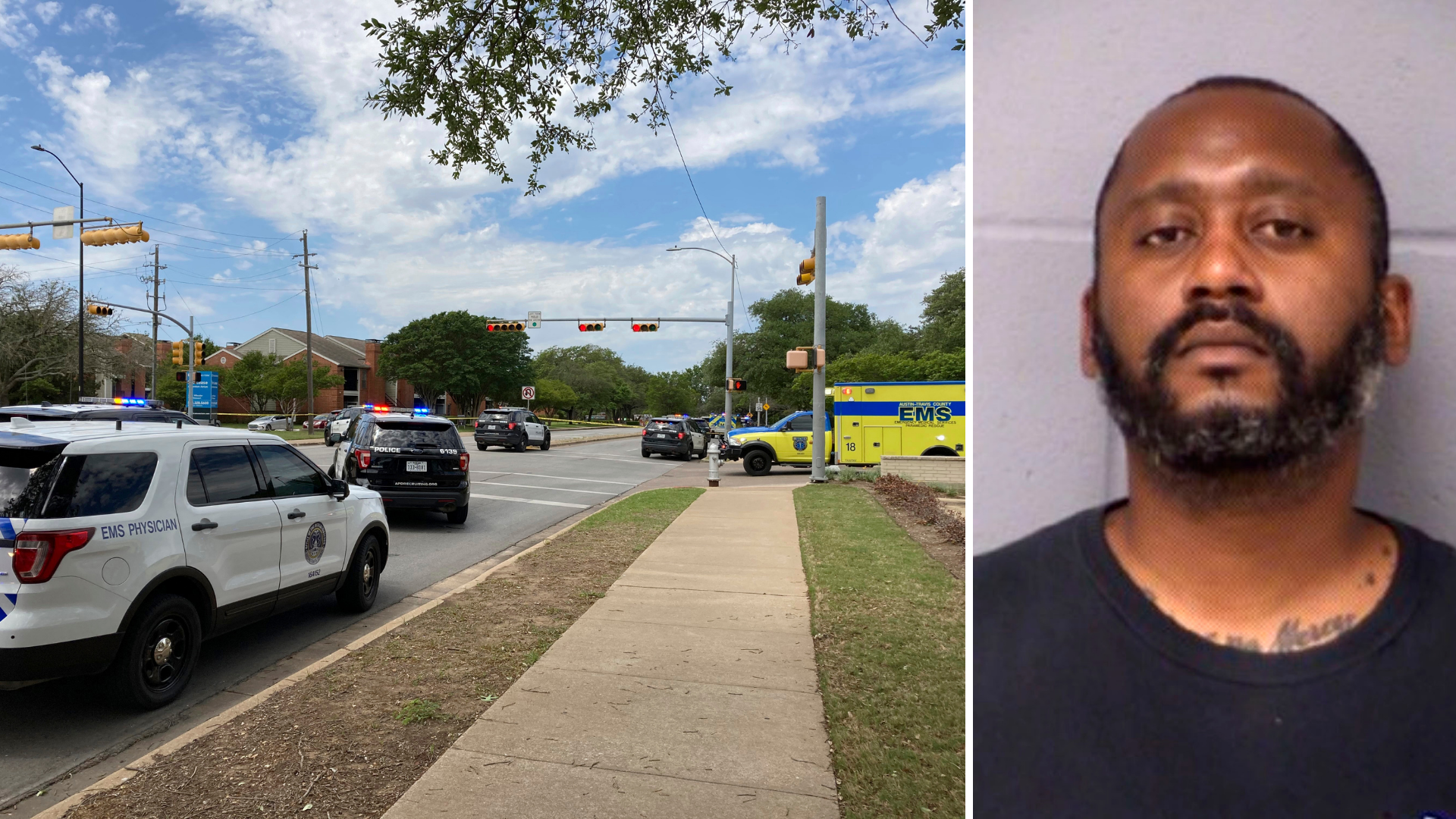 Texas shooting scene, suspect