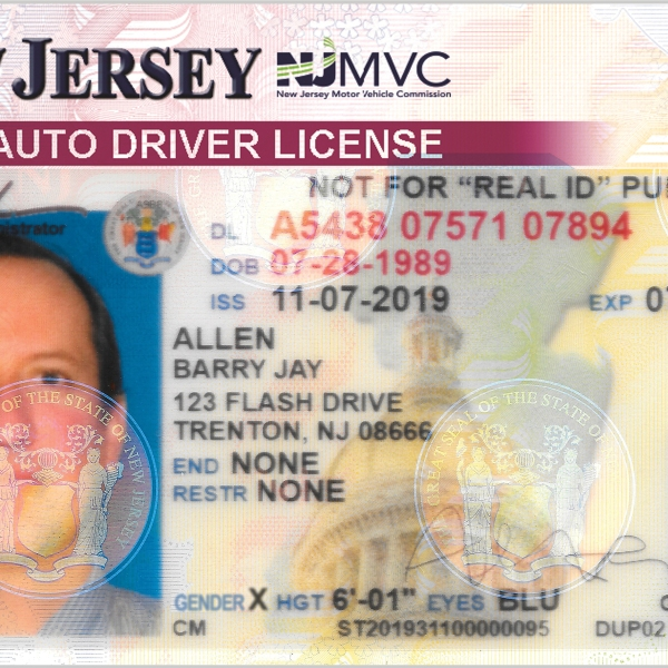 NJ driver's license