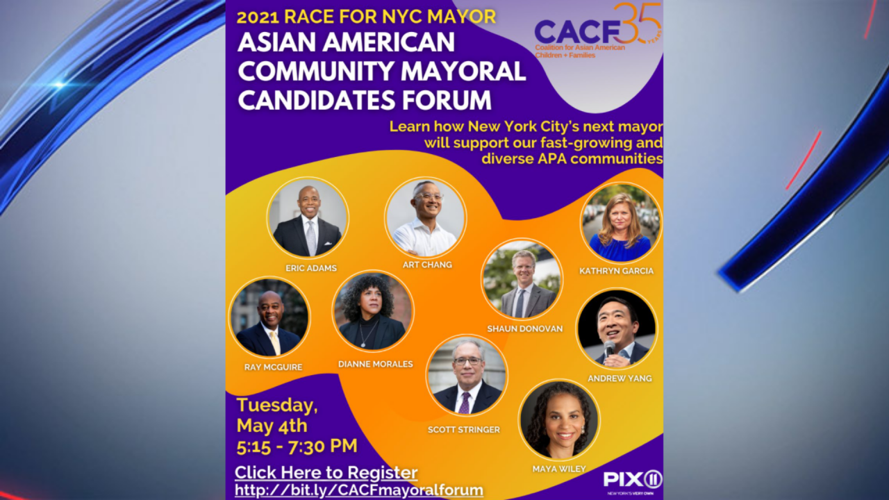 pix11.com: How will NYC's next mayor support the city's Asian American community? Find out at forum