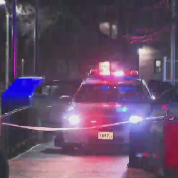 Police on the scene of an apparent triple murder-suicide in Brownsville, Brooklyn late Monday, April 5, 2021, according to the NYPD. (PIX11 News)