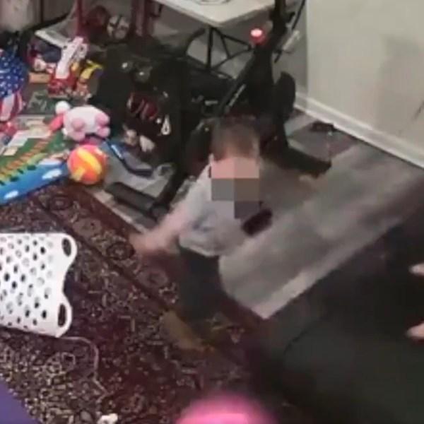 Children play on a Peloton Tread+