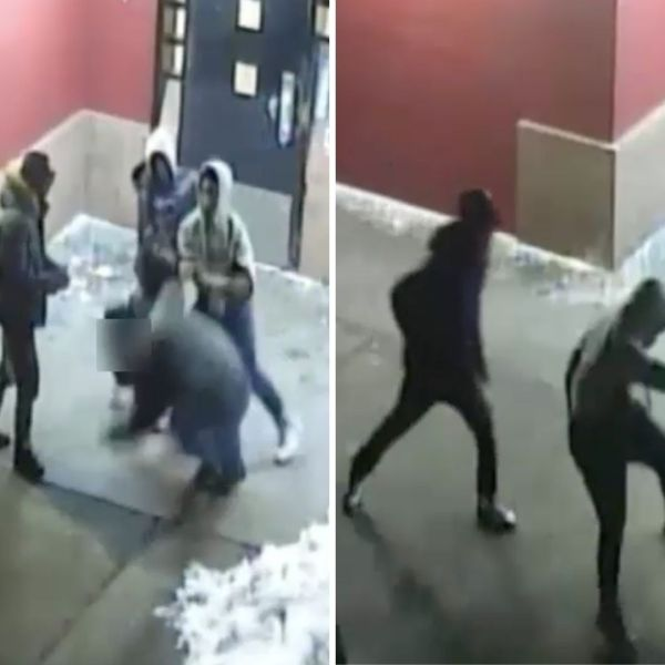 Group beats up and robs a pizza delivery man in Staten Island on Feb. 10, 2021, according to police. (NYPD)