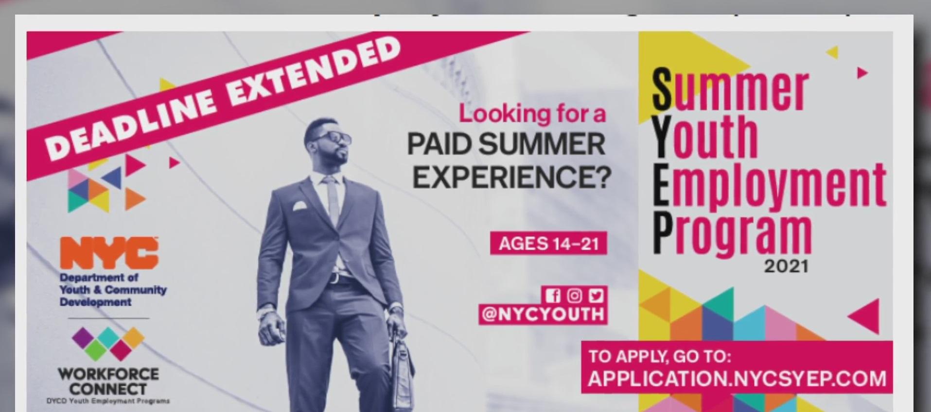 NYC summer youth employment program 2021