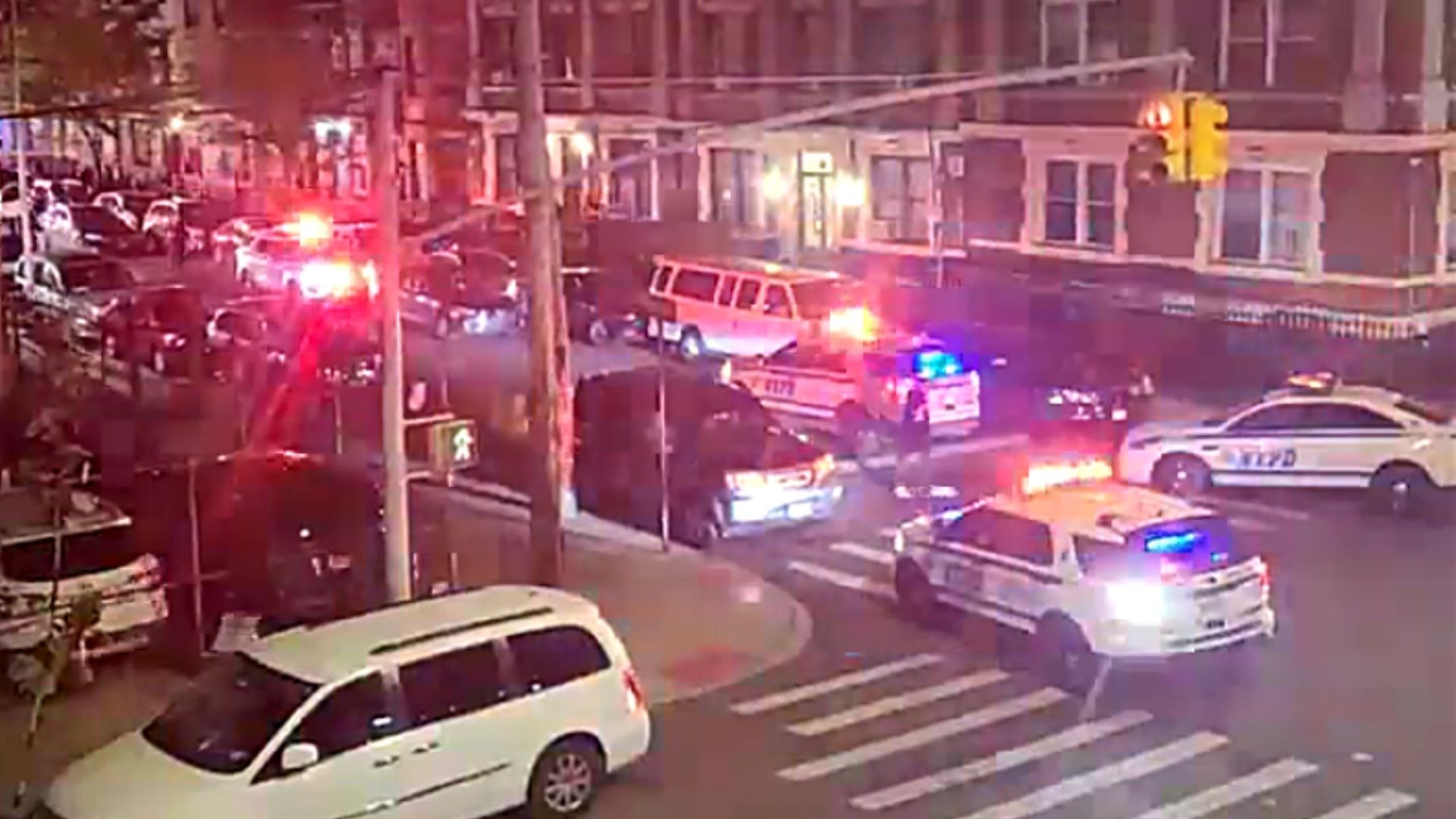Police on the scene after an 18-year-old was shot in the ankle in the Bronx late Monday night, April 26, 2021, according to the NYPD.