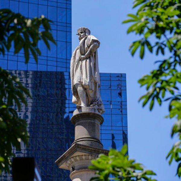 Columbus Circle statue in Manhattan, New York City