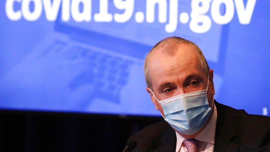 new jersey gov. phil murphy wears a mask