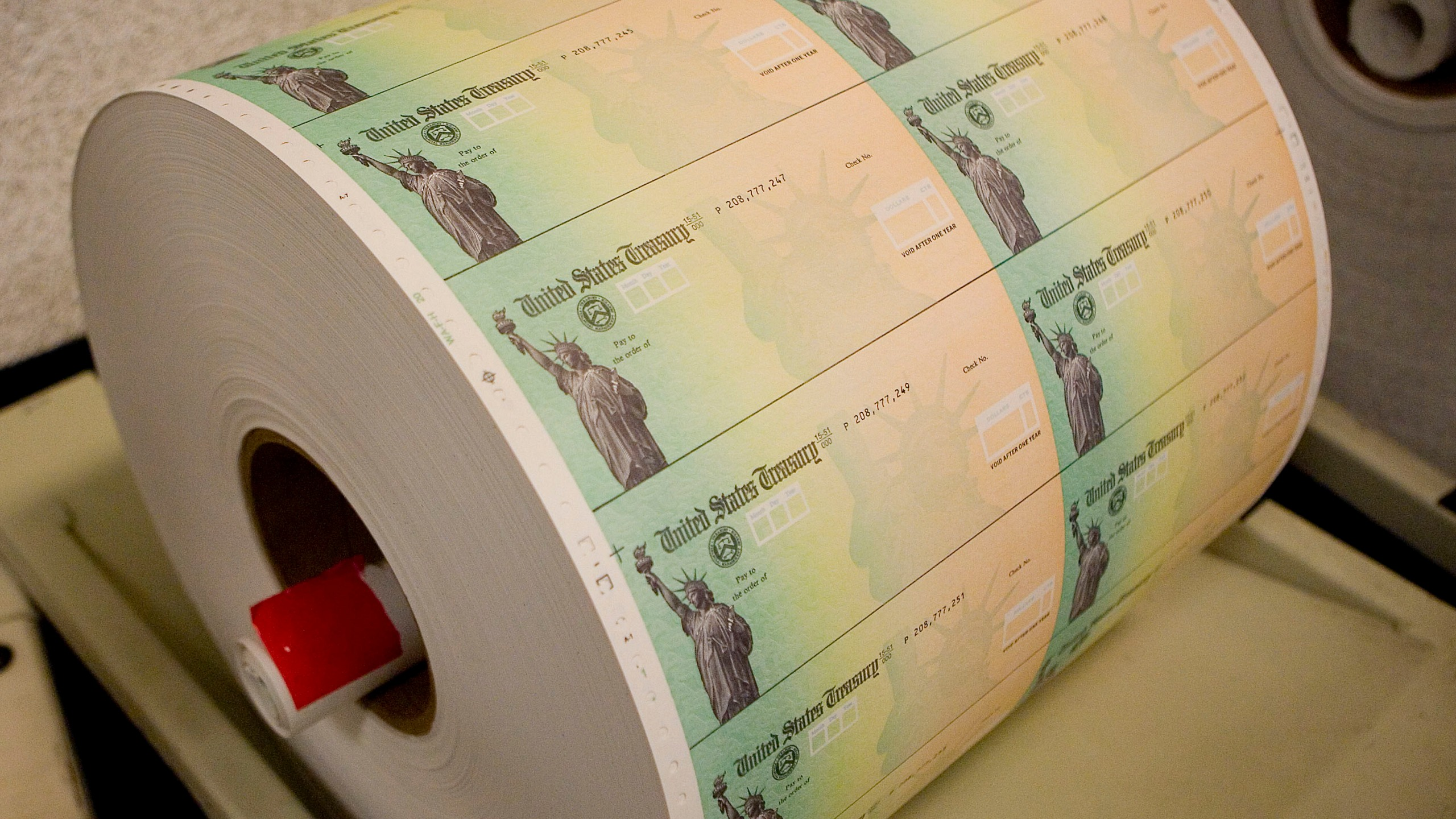 Stimulus checks being printed
