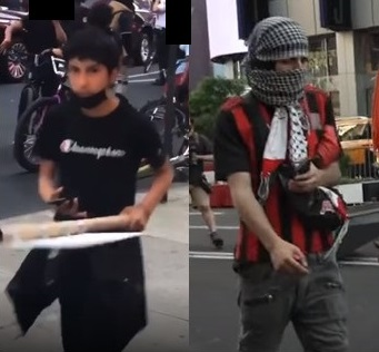 Times square antisemitic attack gaza protest suspects