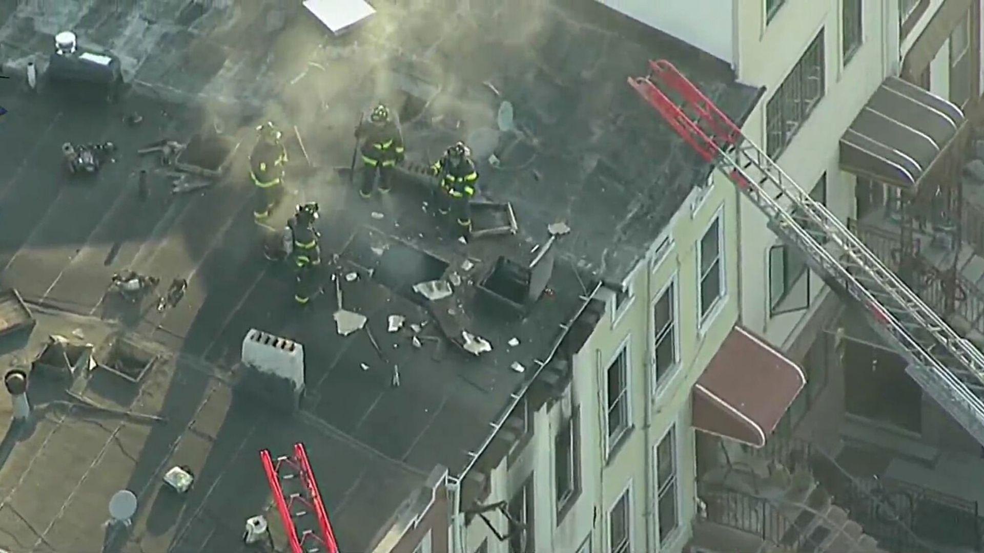 Firefighters battle fire in Bedford-Stuyvesant, Brooklyn