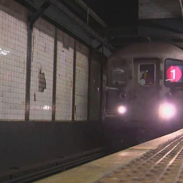 No. 1 train at the Chambers St. subway station