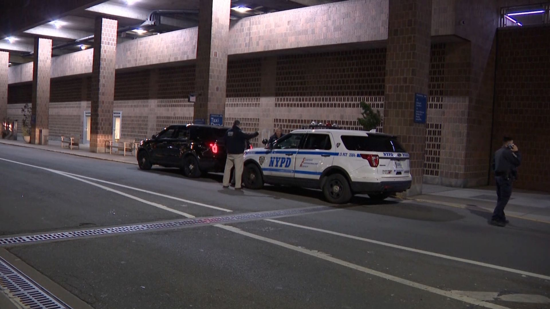 Police on the scene after a deadly hit-and-run along the FDR