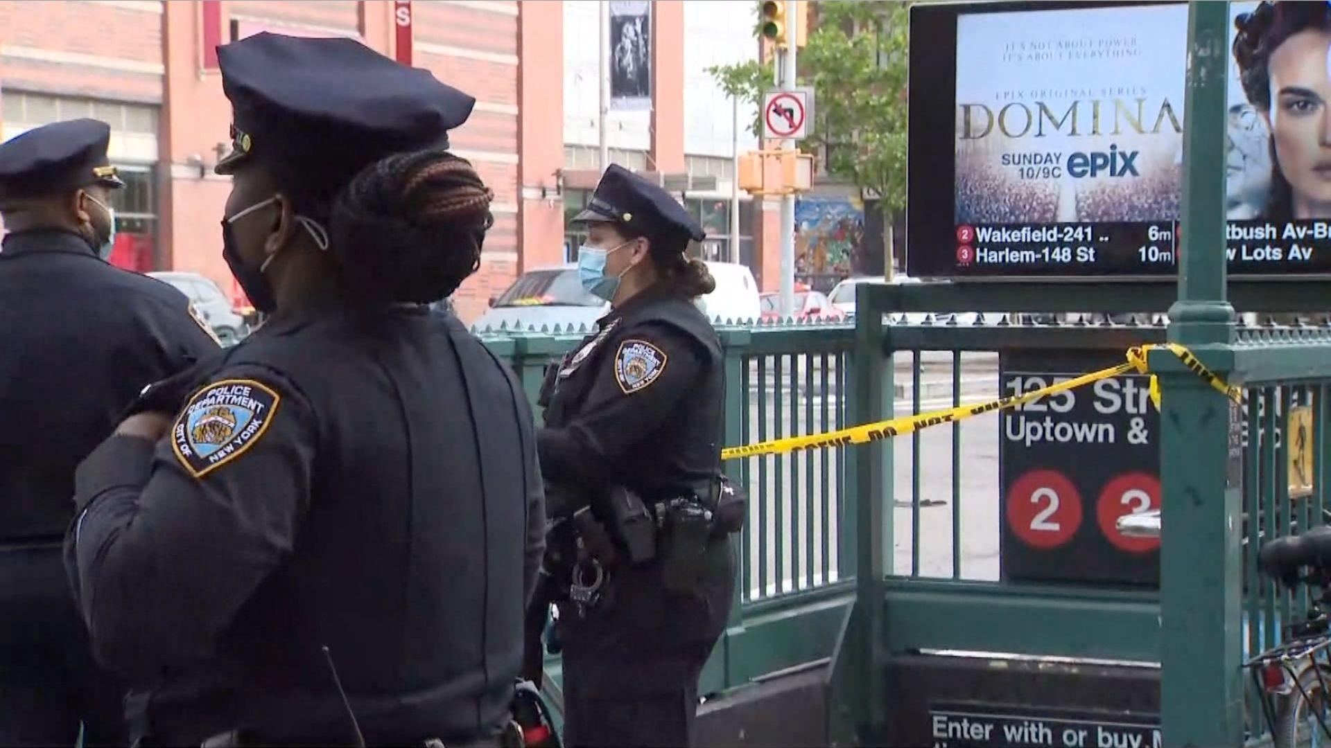 Harlem subway stabbing at 125th Street station
