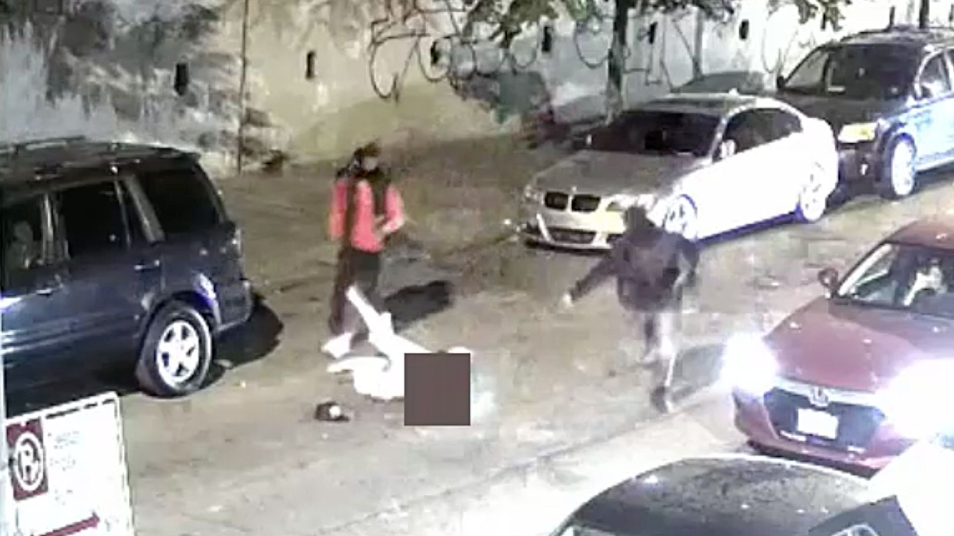 Surveillance video still from Bronx robbery and shooting